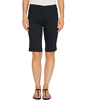 FDJ French Dressing Jeans - Dot Print Pull-On Bermuda in Black/White
