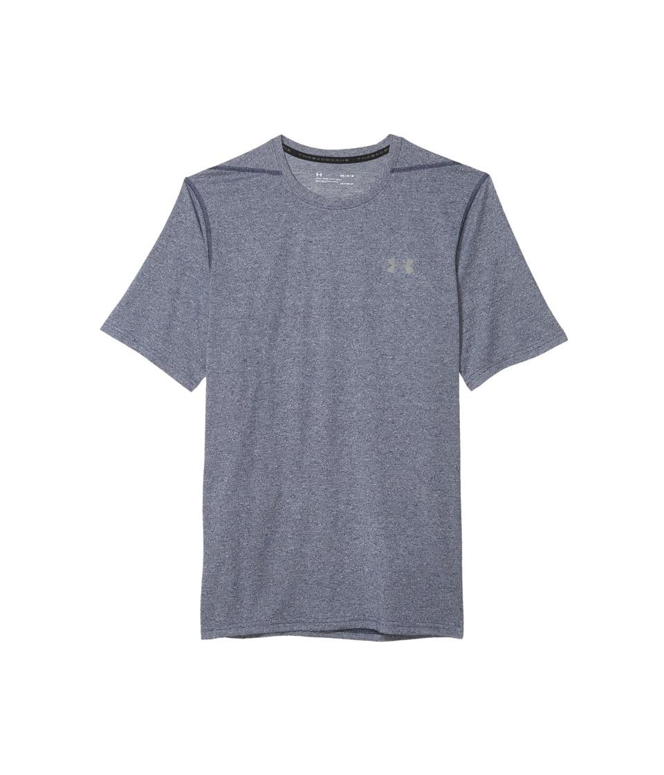 Under Armour - UA Threadborne Short Sleeve (Midnight Navy/Graphite) Mens Clothing
