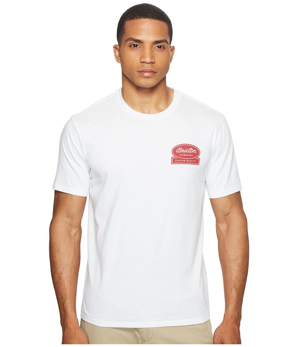 Brixton Dale Short Sleeve Premium Tee (White) Men
