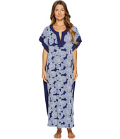 Oscar de la Renta Pink Label - Printed Stretch De Chine Eclipse Print Caftan