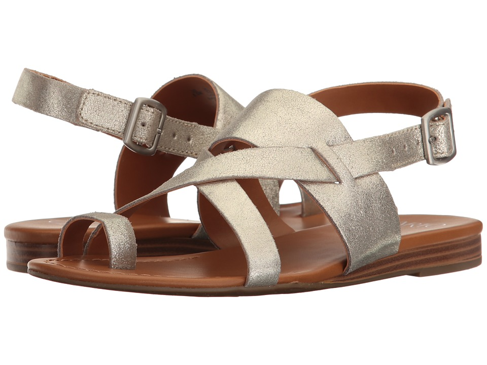 Franco Sarto - Gia by SARTO (Platino Stardust Leather) Womens Sandals
