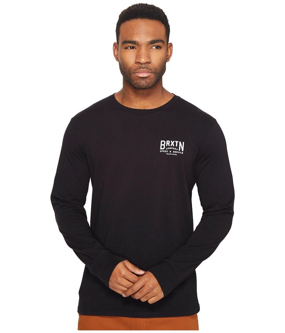 Brixton Langley Long Sleeve Premium Tee (Black) Men