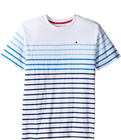 Tommy Hilfiger Kids - Printed Stripe Crew Tee (Big Kids)