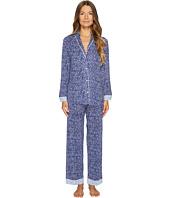 Oscar de la Renta Pink Label - Printed Rayon Span Clover Geo Print Pajama Set
