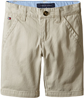 Tommy Hilfiger Kids - Chester Twill Shorts with Oxford (Toddler/Little Kids)