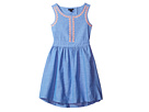 Tommy Hilfiger Kids - Chambray Embroidered Dress (Toddler)