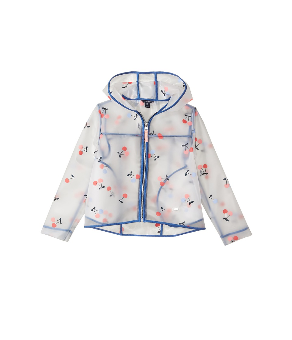 Tommy Hilfiger Kids Cherry Printed Rain Jacket (Big Kids) (White) Girl