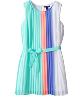 Tommy Hilfiger Kids - Engineer Pleated Chiffon Dress (Big Kids)