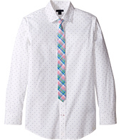 Tommy Hilfiger Kids - Long Sleeve Print Shirt with Necktie (Big Kids)