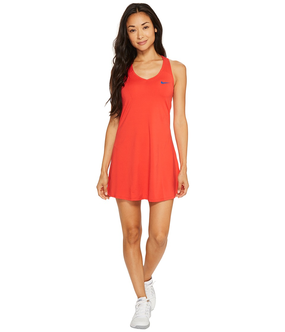 Nike Court Dry Tennis Dress (Action Red/Blue Jay) Women