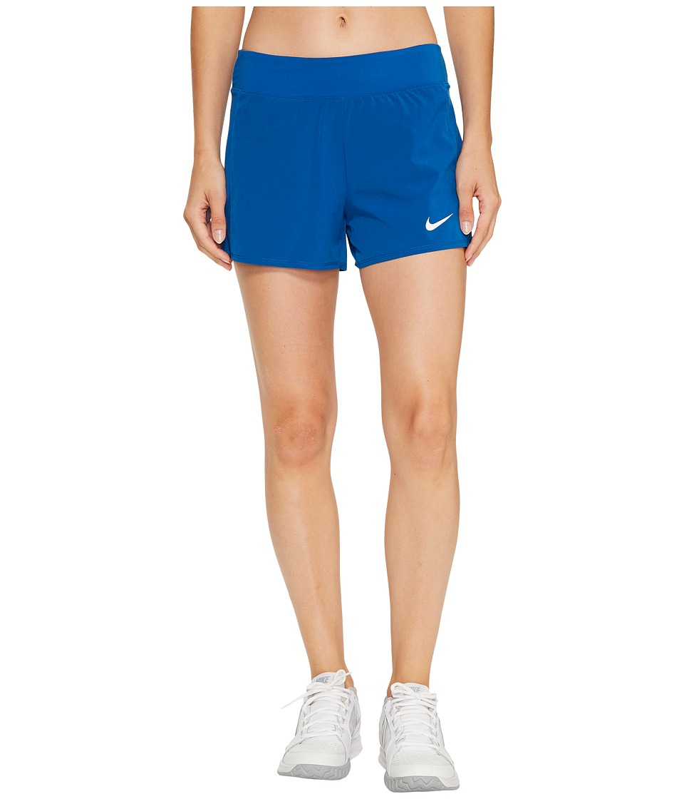 Nike Court Flex Pure Tennis Short (Blue Jay/White) Women