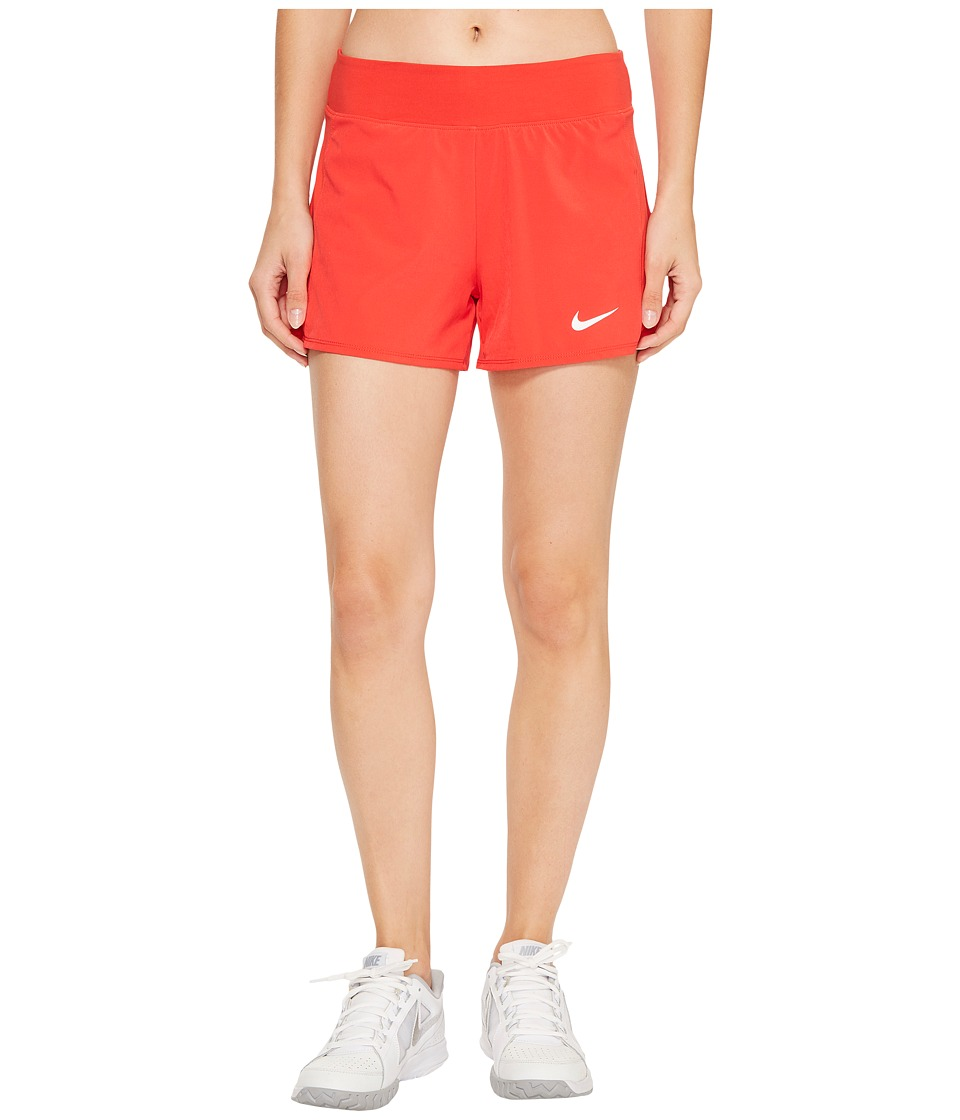 Nike Court Flex Pure Tennis Short (Action Red/White) Women