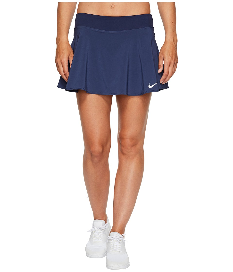 Nike Court Tennis Skirt (Midnight Navy/White) Women