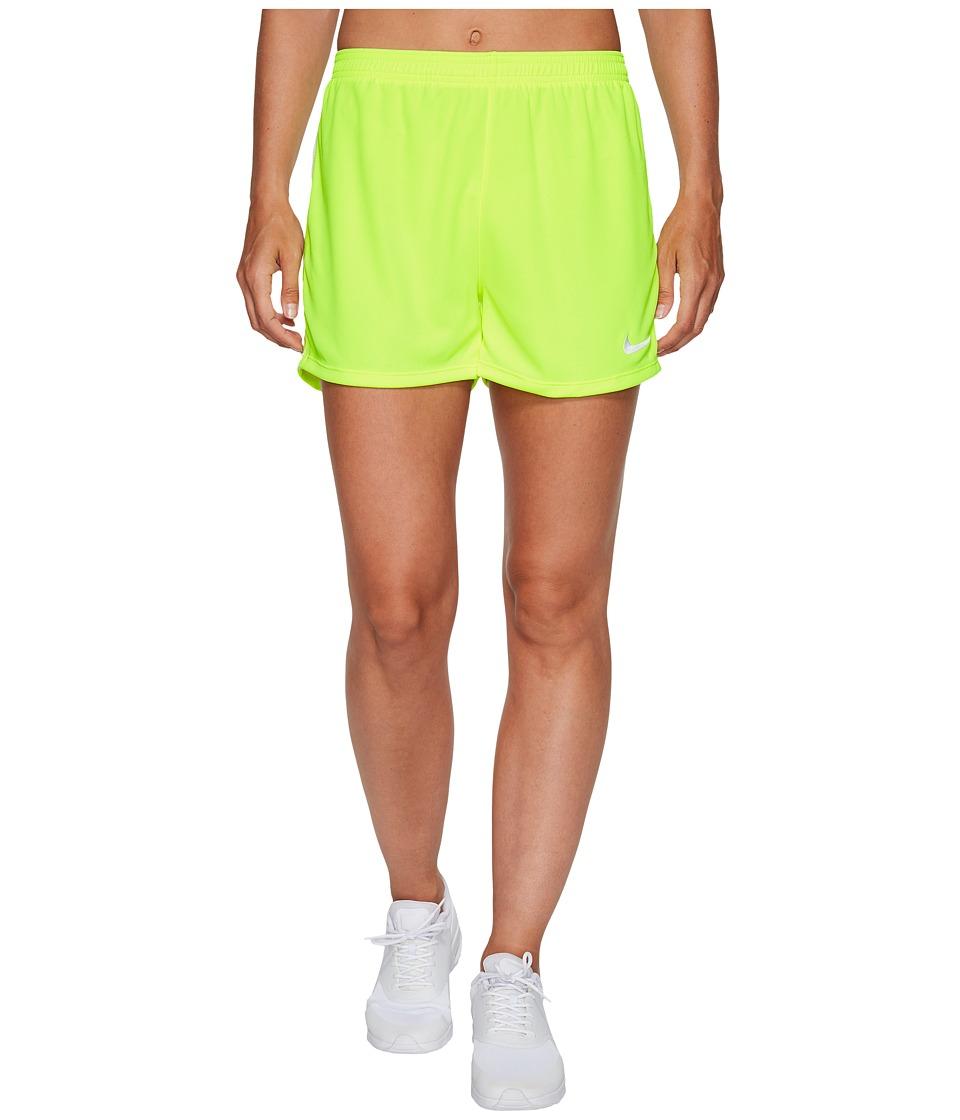 Nike Dry Academy Soccer Short (Volt/White/White) Women