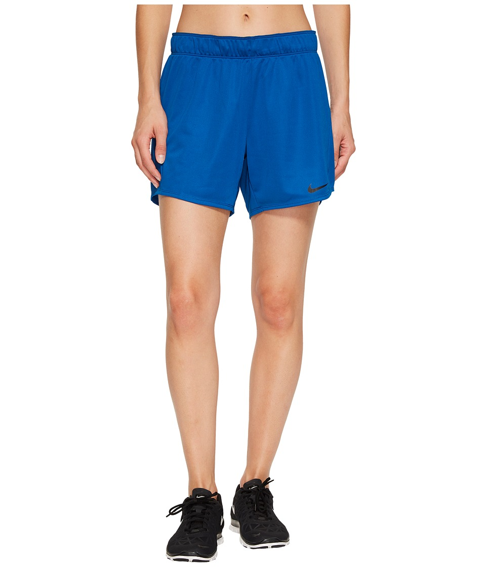 Nike Dry 5 Training Short (Blue Jay/Black/Black) Women