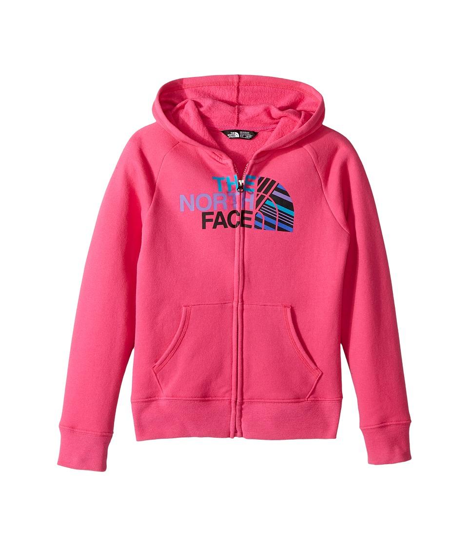 The North Face Kids Logowear Full Zip Hoodie (Little Kids/Big Kids) (Petticoat Pink) Girl