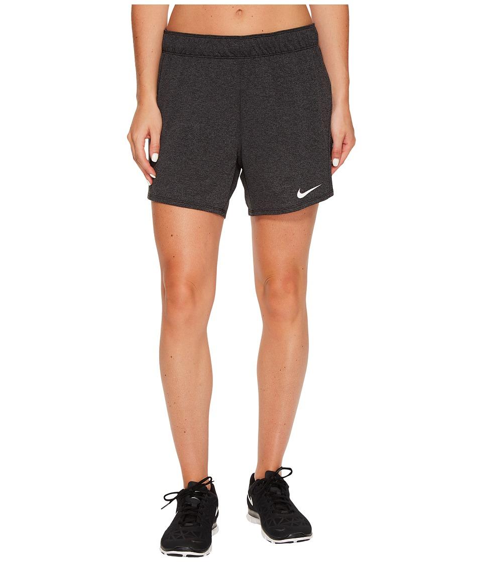 Nike Dry Attack Training Heathered Short (Black/Heather/Black/White) Women