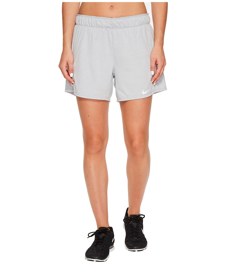 Nike Dry Attack Training Heathered Short (Wolf Grey/Heather/Black/White) Women