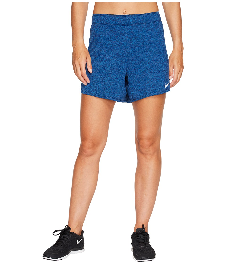 Nike Dry Attack Training Heathered Short (Blue Jay/Heather/Cirrus Blue/White) Women