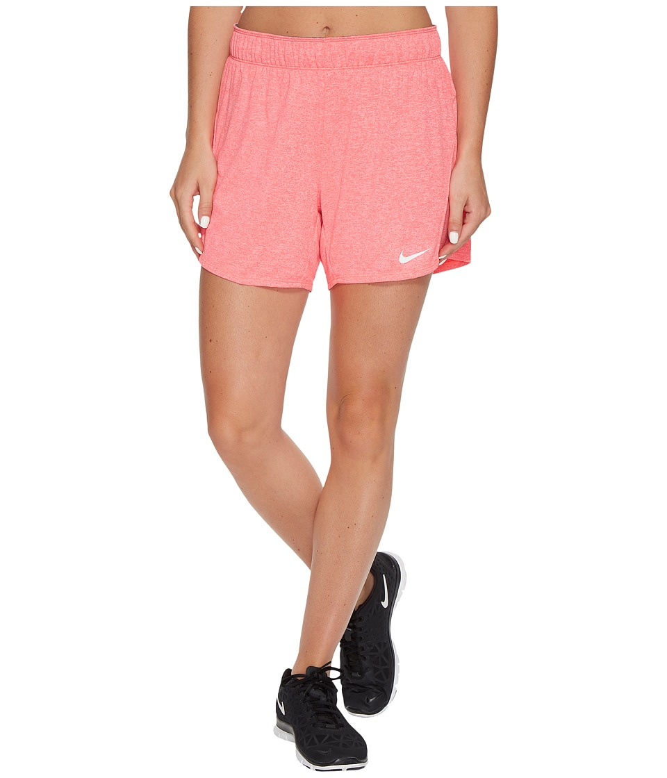 Nike Dry Attack Training Heathered Short (Racer Pink/Heather/Cool Grey/White) Women