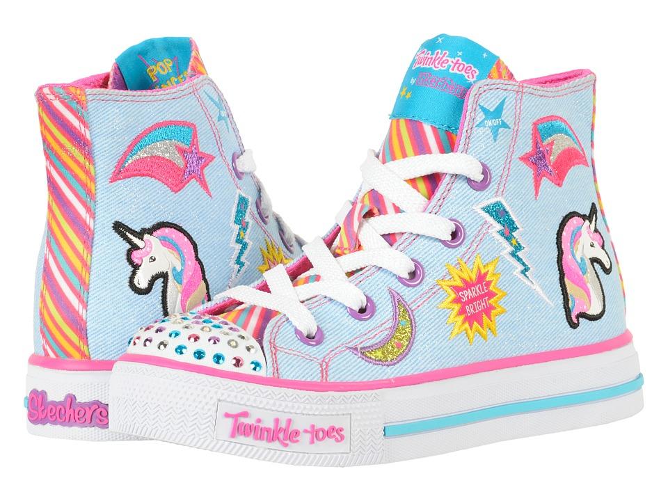 Skechers KIDS - Twinkle Toes - Shuffles 10776L Lights (Li...