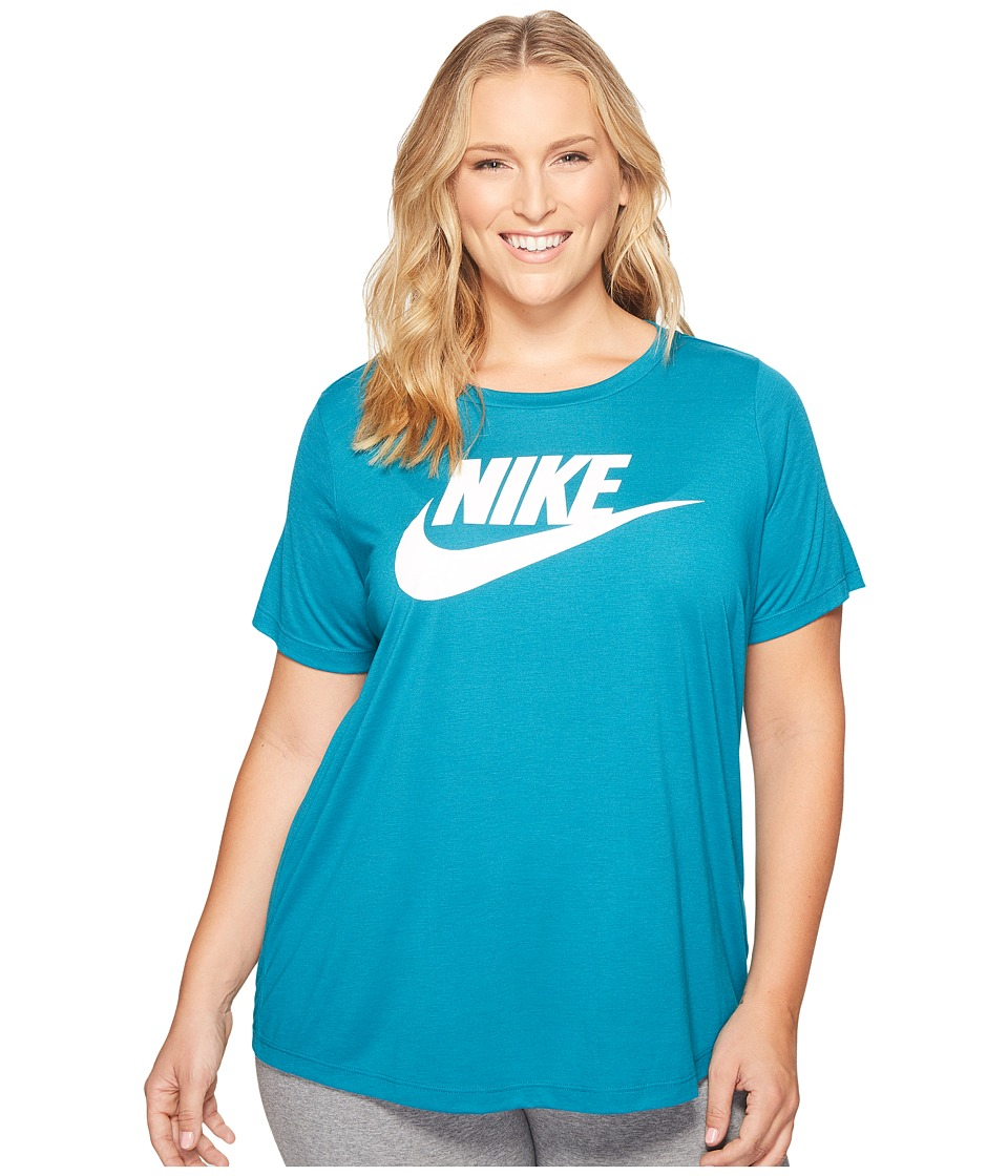 Nike Sportswear Essential T-Shirt (Size 1X-3X) (Blustery/White) Women