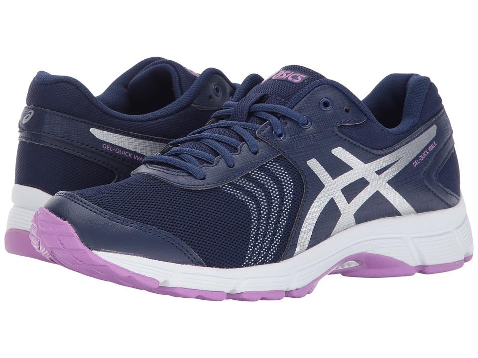 ASICS - Gel-Quickwalk 3 (Indigo Blue/Silver/Violet) Womens Cross Training Shoes