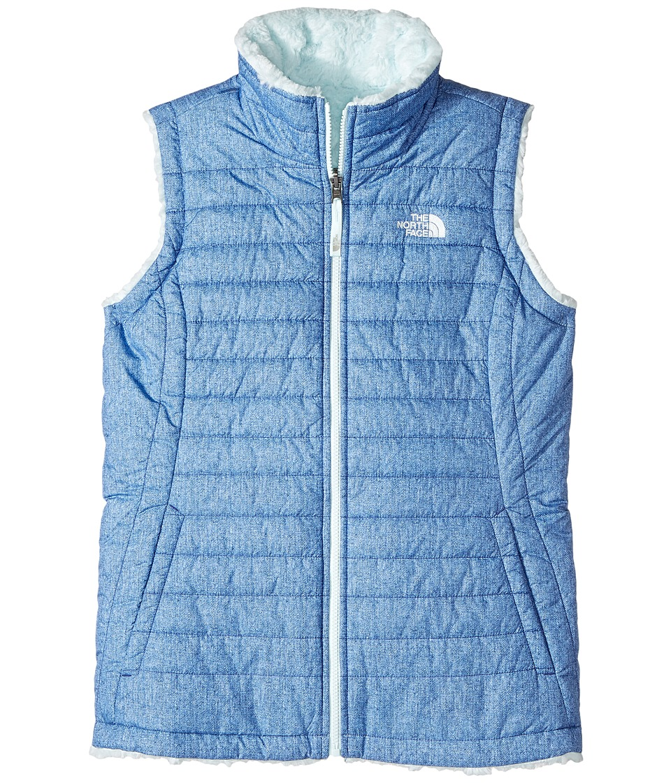 The North Face Kids - Reversible Mossbud Swirl Vest (Little Kids/Big Kids) (Bright Navy Denim Print (Prior Season)) Girls Vest