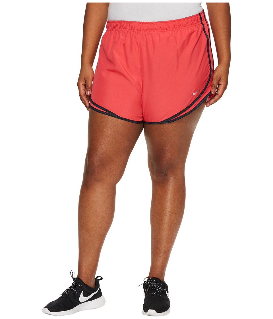 Nike Dry Tempo 3 Running Short (Size 1X-3X) (Light Fusion Red/Black/Wolf Grey/Wolf Grey) Women