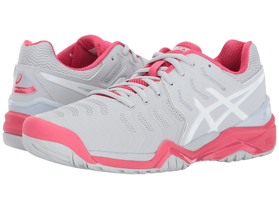 Asics Gel-Resolution 7 (Glacier Grey/White/Rogue Red) Wom...