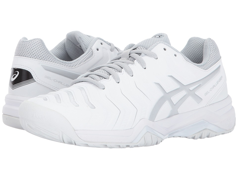 Asics Gel-Challenger 11 (White/Silver) Women's Tennis Shoes