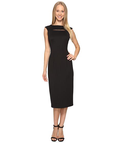 Calvin Klein Cap Sleeve Midi Dress with Cut Out CD7M1X2X