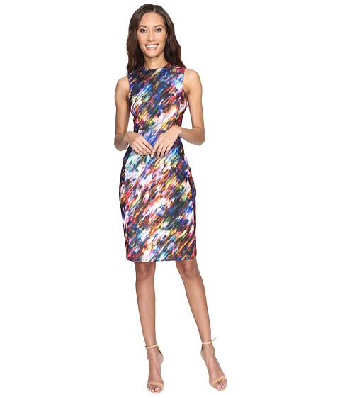 Calvin Klein Blured Print Sheath Dress CD7C4903