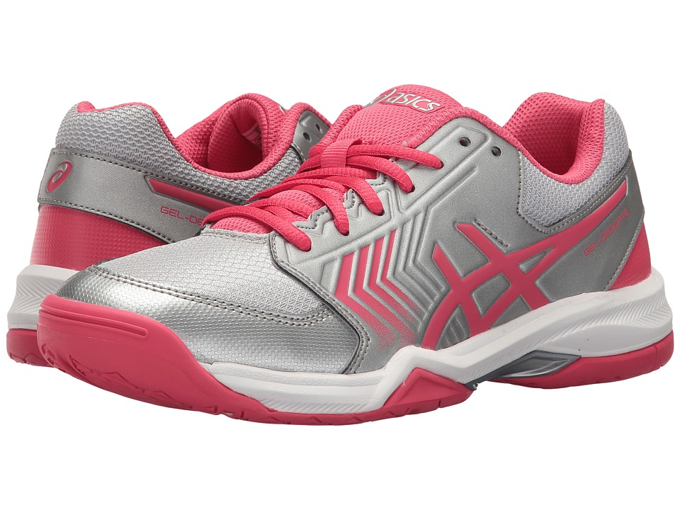 ASICS - Gel-Dedicate 5 (Silver/Rogue Red/White) Womens Tennis Shoes