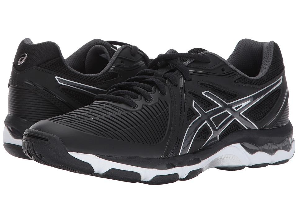 ASICS - GEL-Netburner Ballistictm (Black/Dark Grey/Silver) Womens Volleyball Shoes