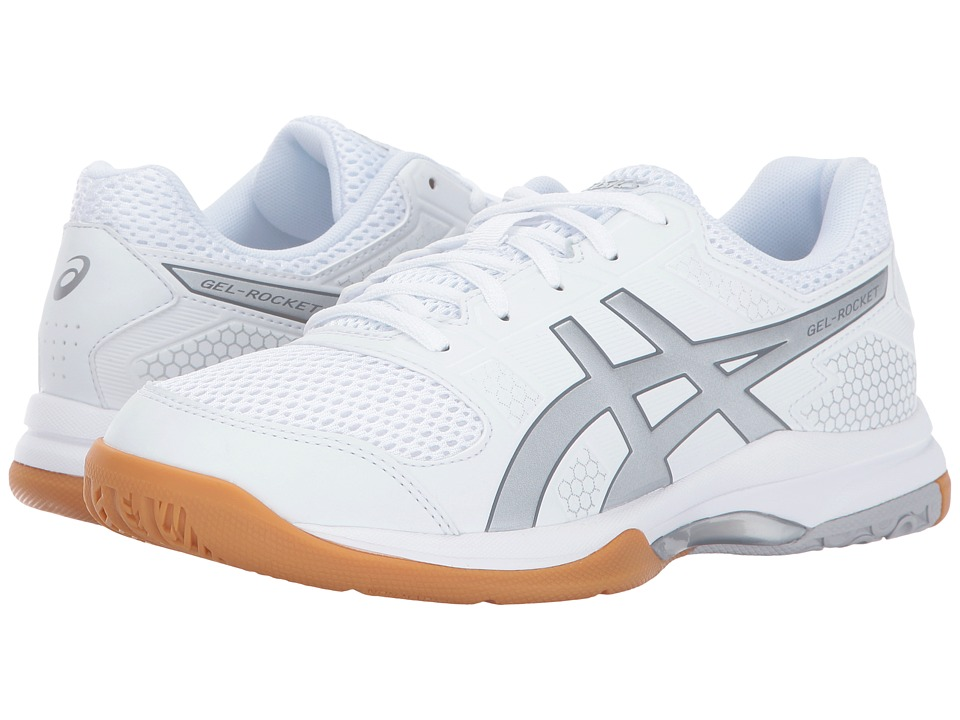 ASICS Gel-Rocket 8 (White/Silver/White) Women's Volleyball Shoes