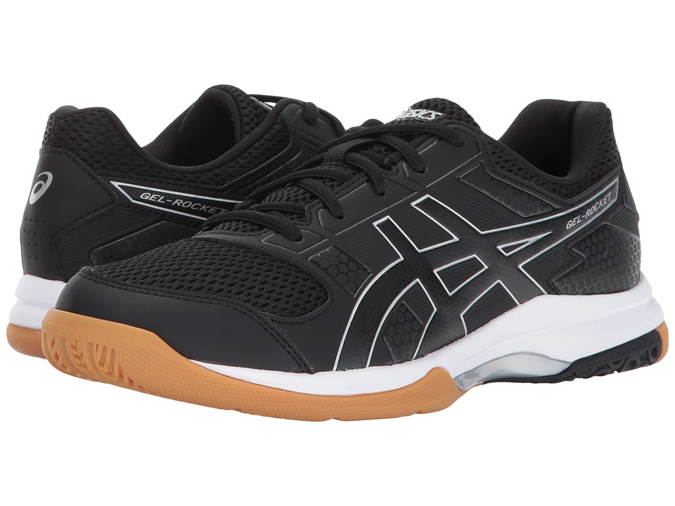 ASICS Gel-Rocket 8 (Black/Black/White) Women's Volleyball Shoes