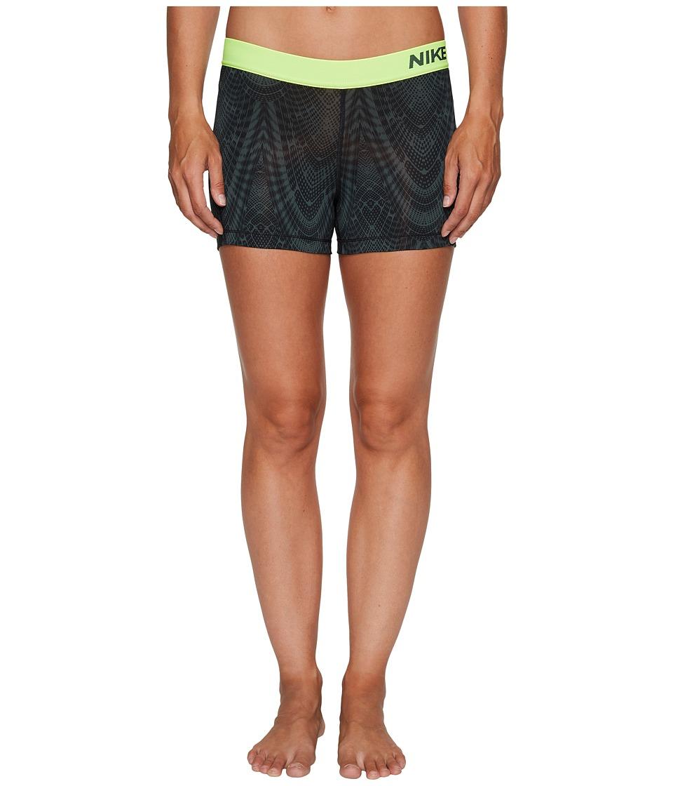 Nike Pro Training Short (Black/Vintage Green/Volt) Women