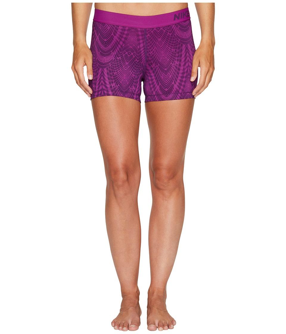 Nike Pro Training Short (Night Purple/Bold Berry/Bold Berry) Women