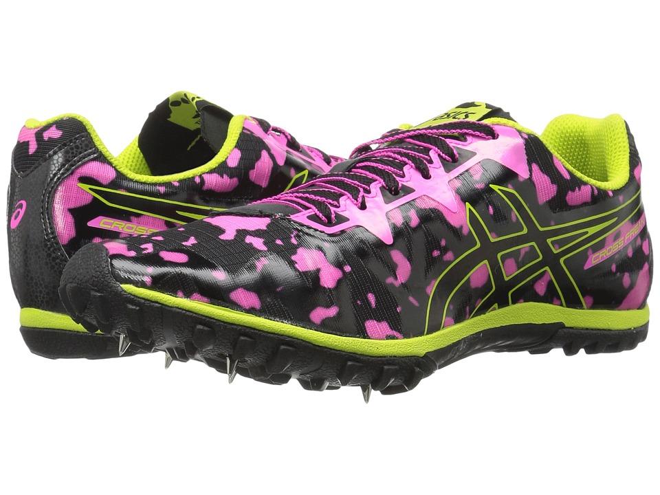 ASICS Cross Freak 2 (Hot Pink/Black/Neon Lime) Women's Track Shoes