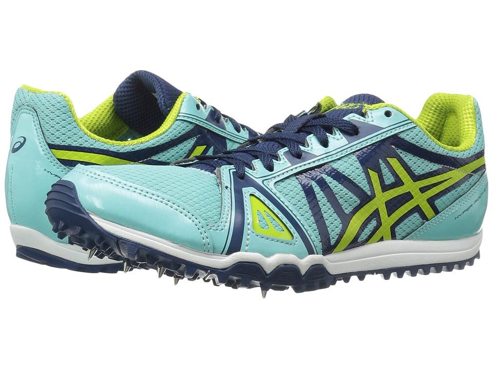 ASICS Hyper Rocketgirl XC (Aruba Blue/Neon Lime/Poseidon) Women's Track Shoes