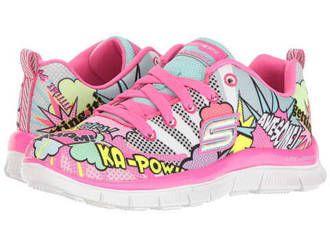 SKECHERS KIDS Skech Appeal 81817L (Little Kid/Big Kid) - Neon/Pink/Multi