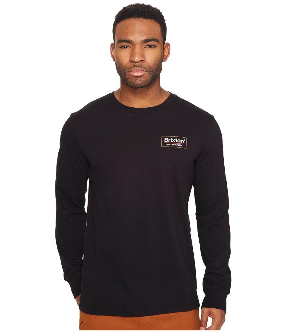 Brixton Palmer Long Sleeve Premium Tee (Black) Men