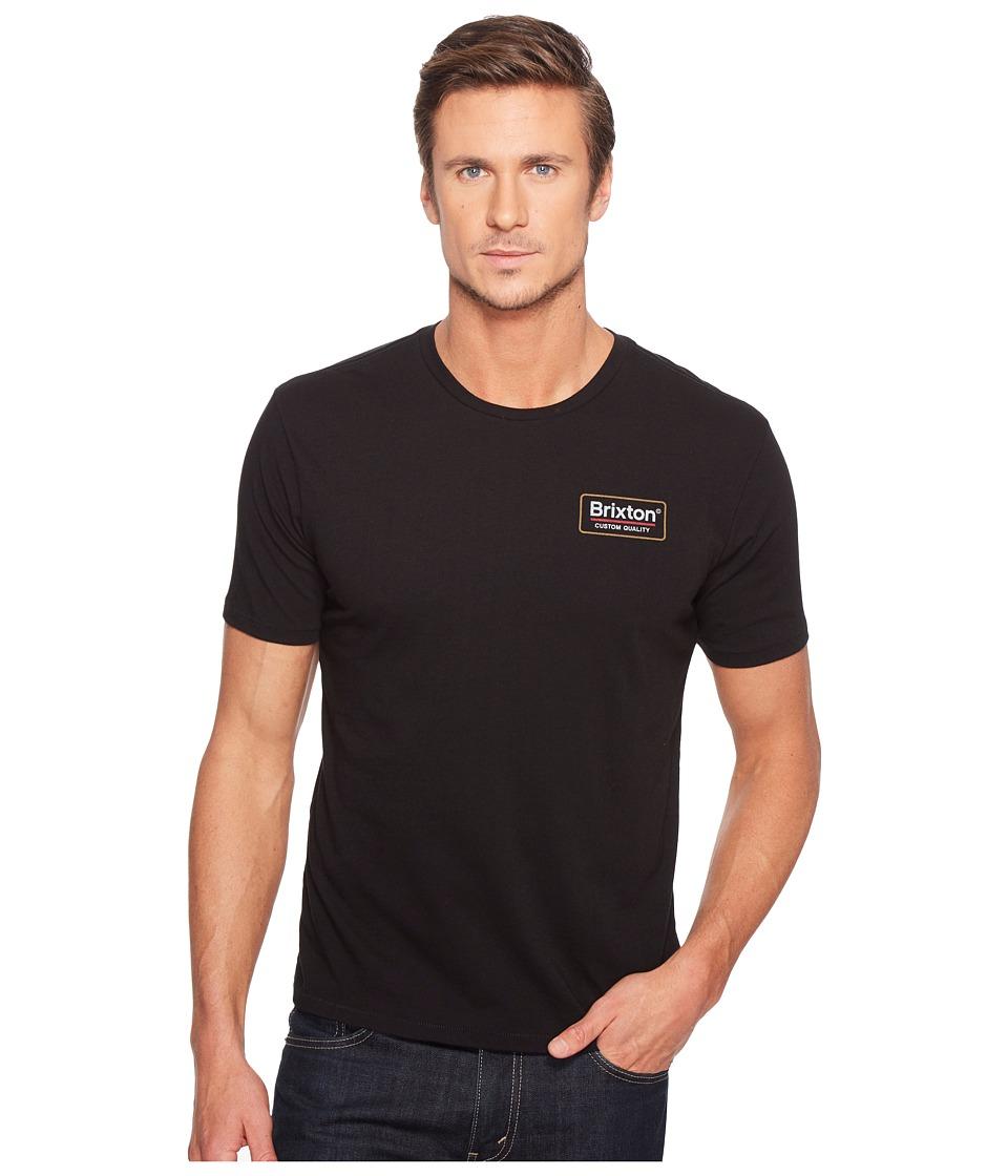 Brixton Palmer Short Sleeve Premium Tee (Black) Men