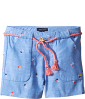 Tommy Hilfiger Kids - Printed Shorts with Novelty Tassle Belt (Little Kids)