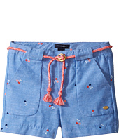 Tommy Hilfiger Kids - Printed Shorts with Novelty Tassle Belt (Toddler)