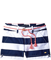 Tommy Hilfiger Kids - Rugby Stripe Shorts with Rope Belt (Toddler)
