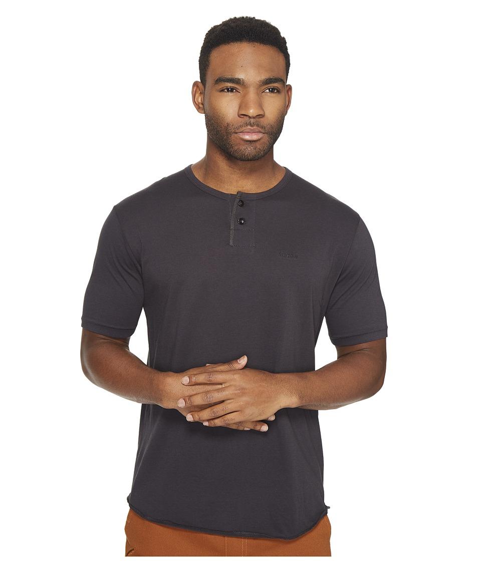 Brixton Berkeley Short Sleeve Henley (Washed Black) Men