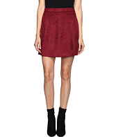 ROMEO & JULIET COUTURE - Suede Woven A Line Skirt