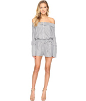 ROMEO & JULIET COUTURE - Long Sleeve Stripe Off Shoulder Romper